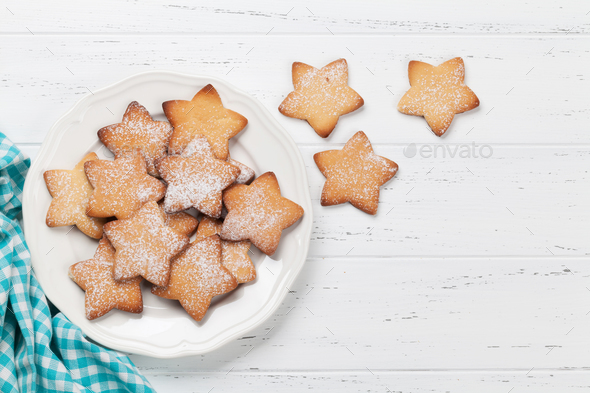 Star shaped cookies - Stock Photo - Images