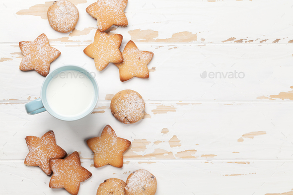 Cookies and milk - Stock Photo - Images