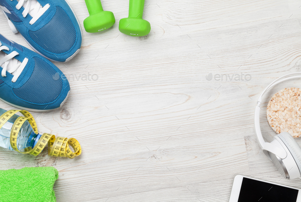 Fitness concept background - Stock Photo - Images
