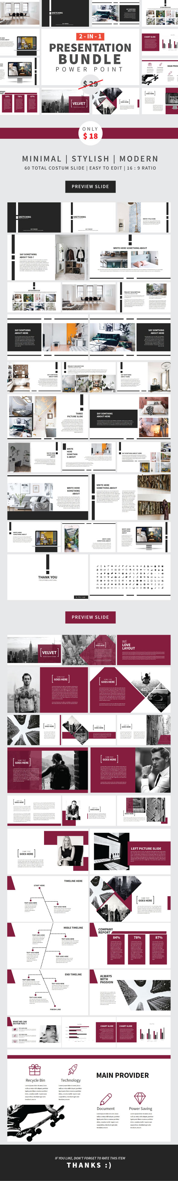 Bundle PPTX 2 in 1 - Creative PowerPoint Templates