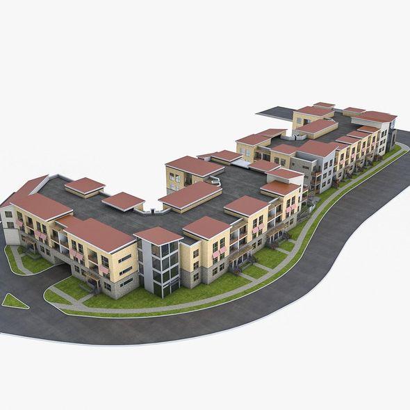 Apartment Complex 02 - 3DOcean Item for Sale