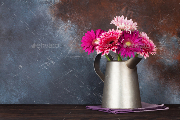 Gerbera flowers bouquet - Stock Photo - Images
