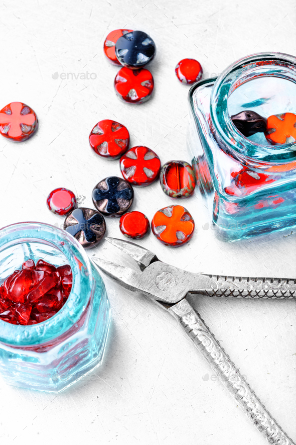 Set glass beads - Stock Photo - Images