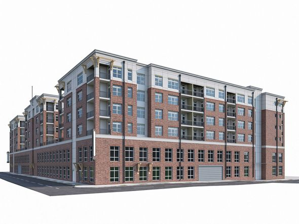 Apartment Complex 04 - 3DOcean Item for Sale