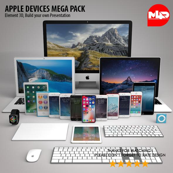 Apple Devices Mega Pack - Element 3D