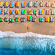 Aerial view of lying woman on the beach - PhotoDune Item for Sale