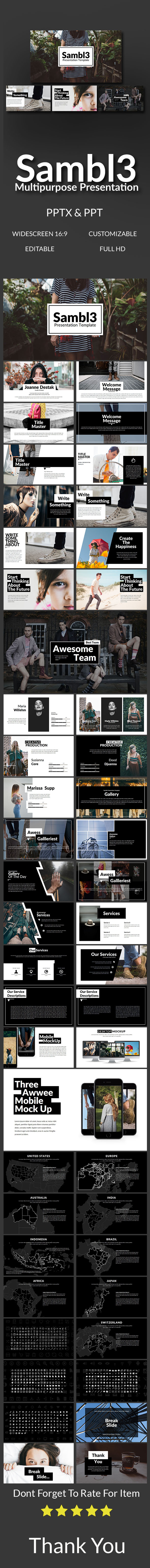 Sambl3 Multipurpose Presentation - Abstract PowerPoint Templates