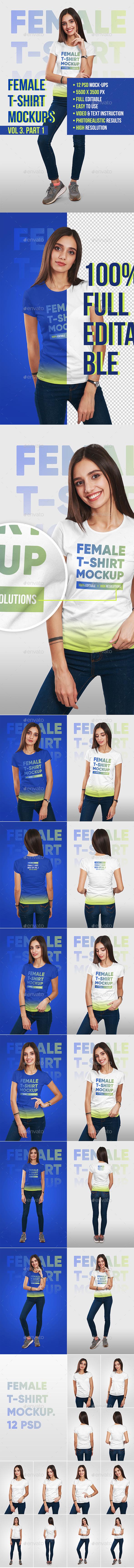 Female T-Shirt Mockups Vol3. Part 1 - T-shirts Apparel