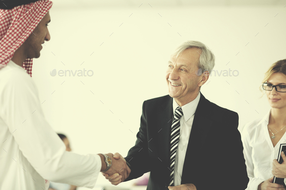 Arabic business man at meeting - Stock Photo - Images