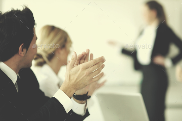 business people group on meeting - Stock Photo - Images
