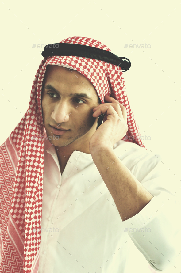 arab business man at bright office - Stock Photo - Images