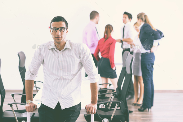 young business man at meeting - Stock Photo - Images