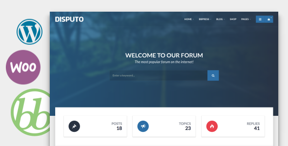 Image of Disputo - WordPress bbPress Forum Theme