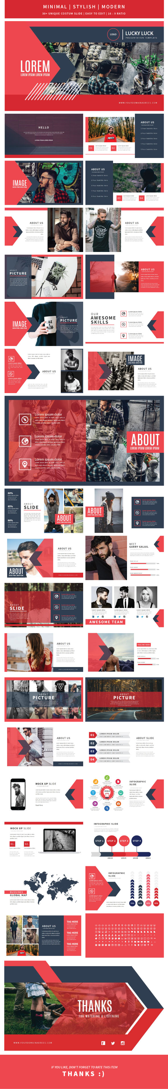 Lucky Luck Keynote Template - Creative Keynote Templates