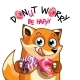 Vector Illustration of Cartoon Fox with Donuts. - GraphicRiver Item for Sale