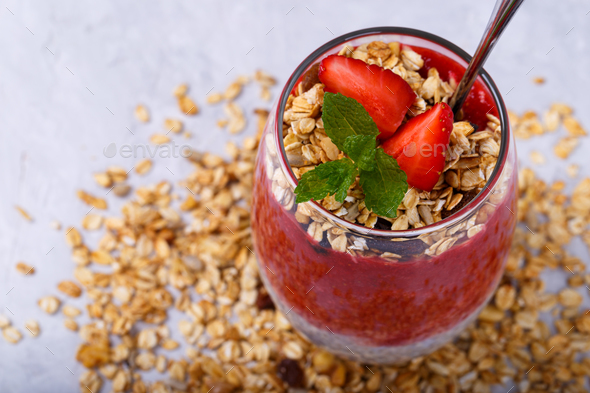 Chia pudding - Stock Photo - Images