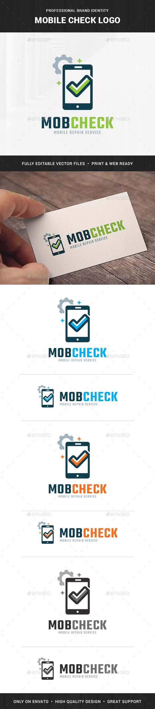 Mobile Check Logo Template - Objects Logo Templates