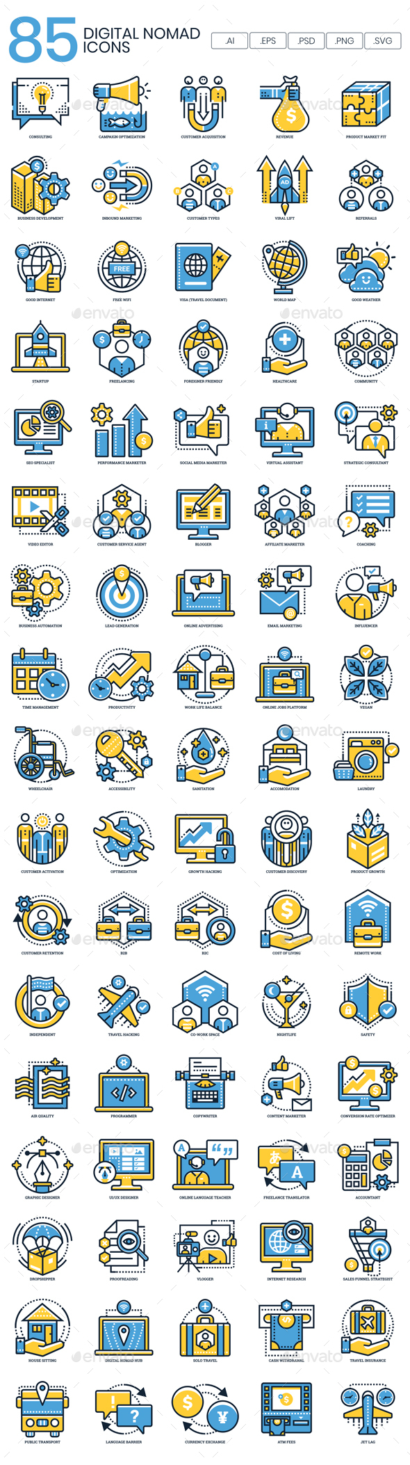 Digital Nomad Icons - Technology Icons