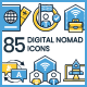 85 Digital Nomad Icons - GraphicRiver Item for Sale