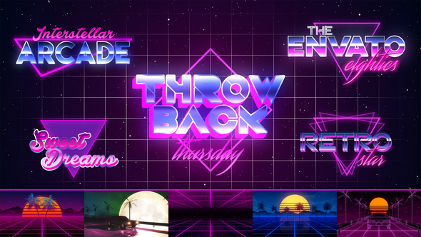 80's VHS Retro Title Pack (Retro) After Effects Templates