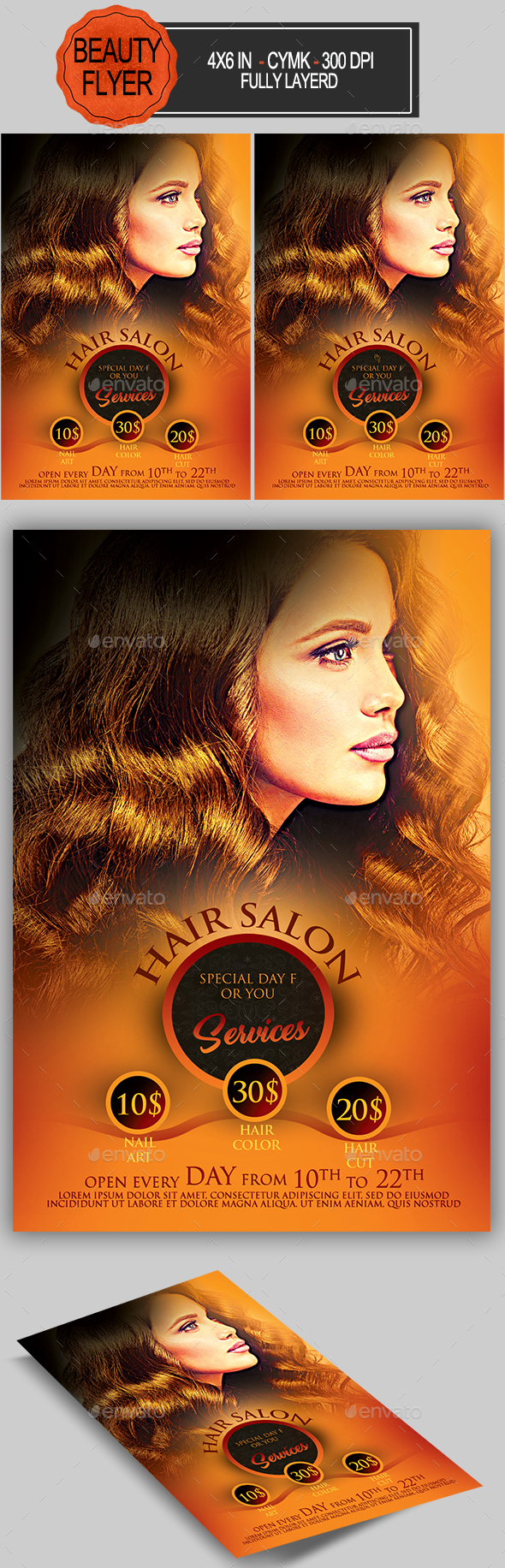 Hair Salon Flyer - Commerce Flyers