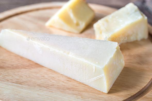 Grana Padano cheese  - Stock Photo - Images