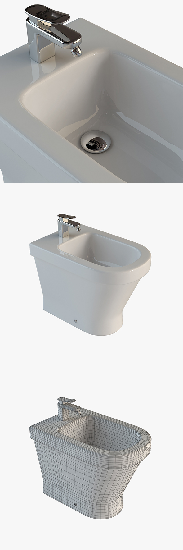Bidet Laufen - 3DOcean Item for Sale