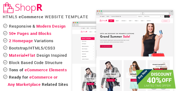 ShopR - eCommerce HTML Template - Retail Site Templates