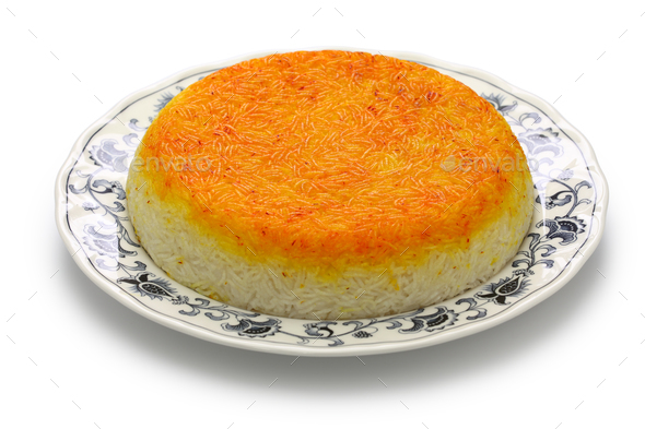 persian rice with tahdig - Stock Photo - Images