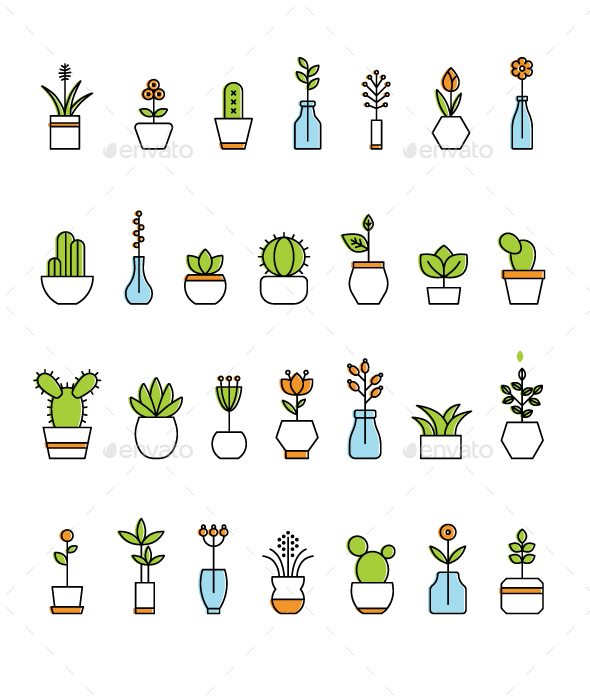 28 Plant Icons - Icons