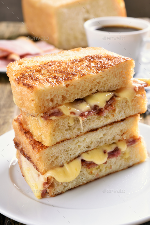Grilled cheese sandwich - Stock Photo - Images