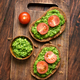 Bread with pesto sauce and tomatoes - PhotoDune Item for Sale
