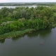 Small Green Island in the Dnipro Area on a Sunny Day in Summer - VideoHive Item for Sale