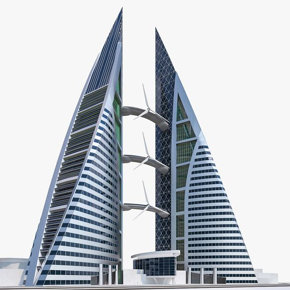 Bahrain World Trade Center - 3DOcean Item for Sale