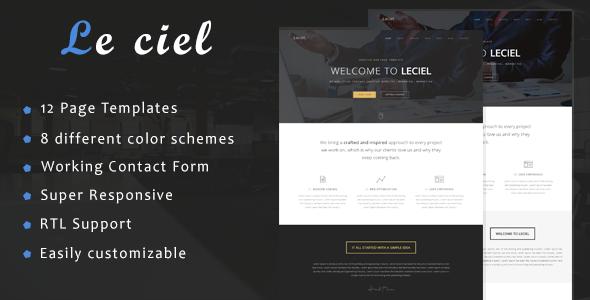 Le ciel - One Page Parallax - Site Templates