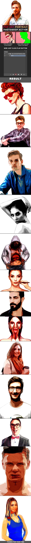 Pop Art Portrait Photoshop Action - Photo Effects Actions