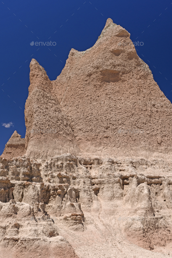 Dramatic Pinnacle in the Badlands - Stock Photo - Images