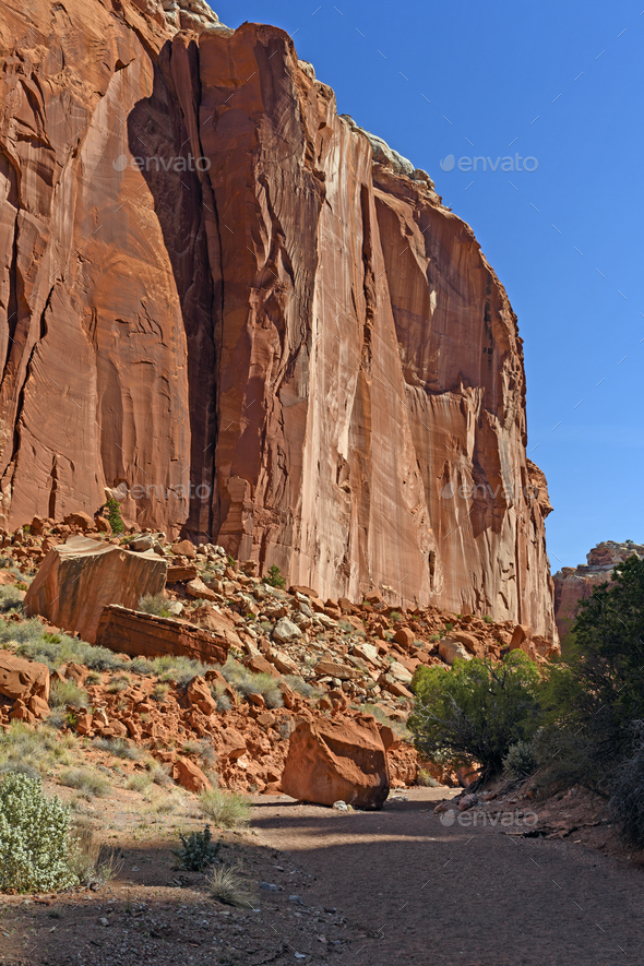 Dramatic Canyon Wall in Utah - Stock Photo - Images