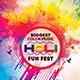 Biggest Color Music HOLI Fun Fest Flyer Template