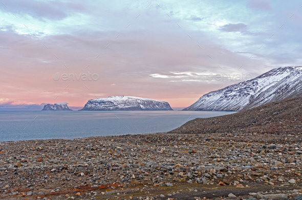 Evening in the High Arctic - Stock Photo - Images
