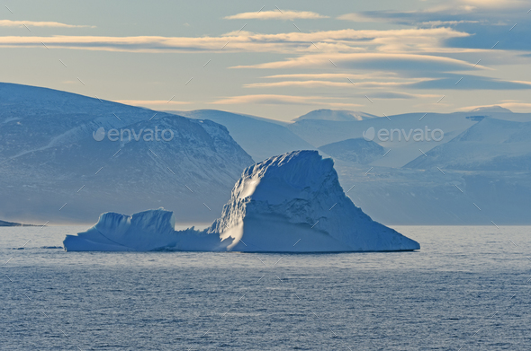 Iceberg in the Ocean Haze - Stock Photo - Images