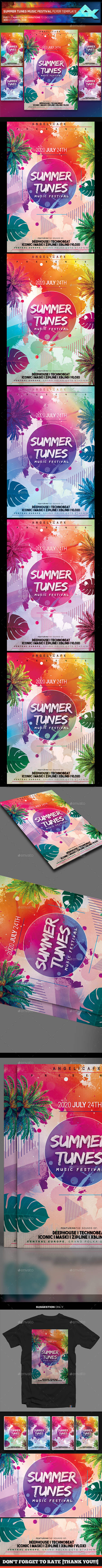 Summer Tunes Flyer Template - Flyers Print Templates