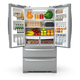 Open fridge refrigerator  full of food and drinks isolated on wh - PhotoDune Item for Sale