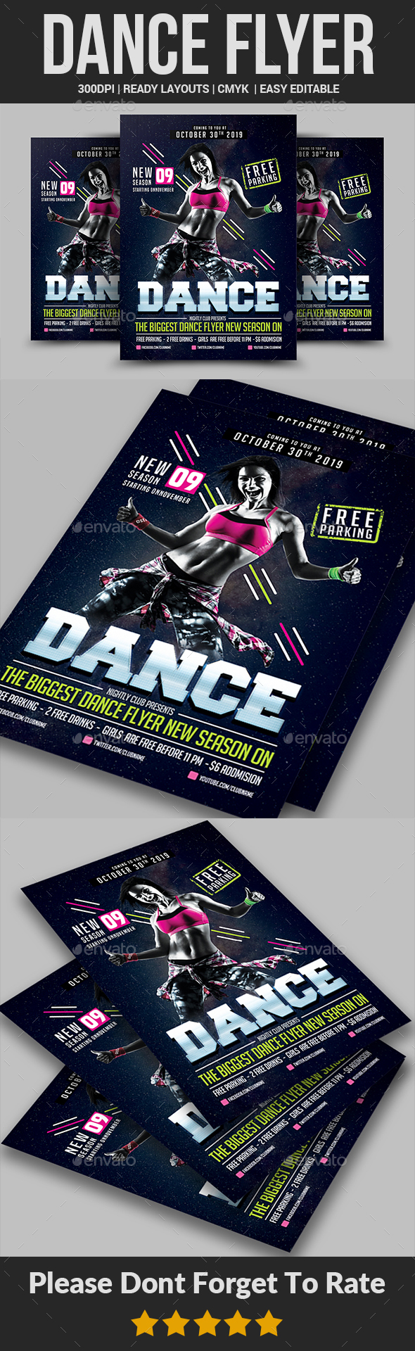 Dance Flyer Templates - Clubs & Parties Events