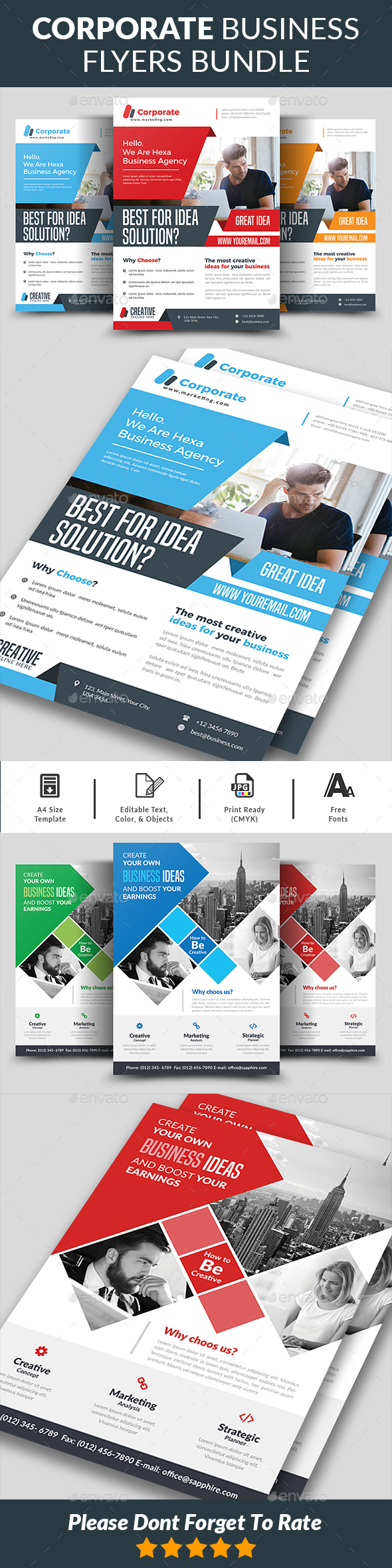 Corporate Business Flyers Bundle - Corporate Flyers