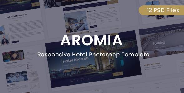 Aromia Hotel PSD Template - PSD Templates