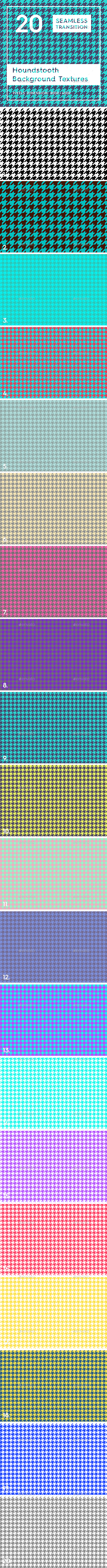 20 Houndstooth Pattern Background Textures - Patterns Backgrounds