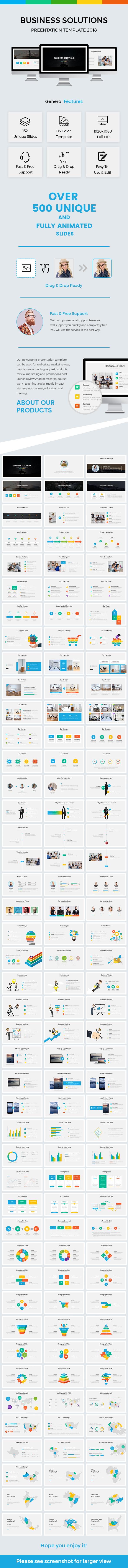 Business Solutions  Google Slide Template 2018 - Google Slides Presentation Templates