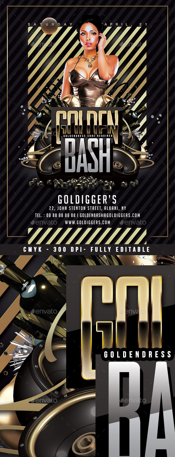 Golden Club Bash - Clubs & Parties Events