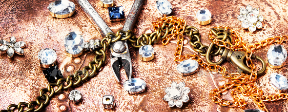 Making of handmade jewellery - Stock Photo - Images